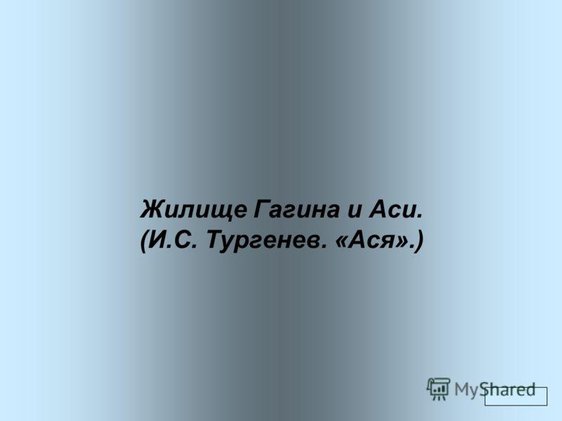 Жилище Гагина и Аси. (И.С. Тургенев. «Ася».)