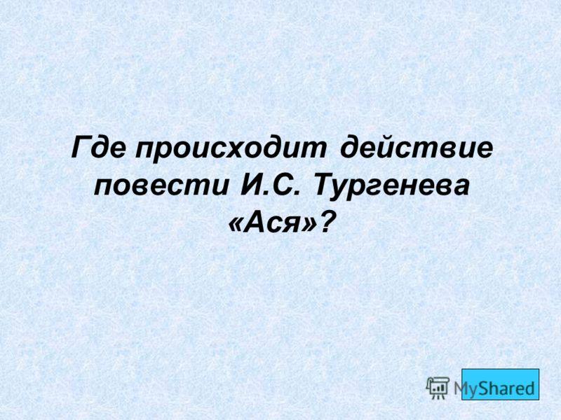 Где происходит действие повести И.С. Тургенева «Ася»?