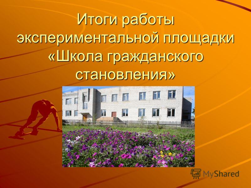 Итоги работы экспериментальной площадки «Школа гражданского становления»