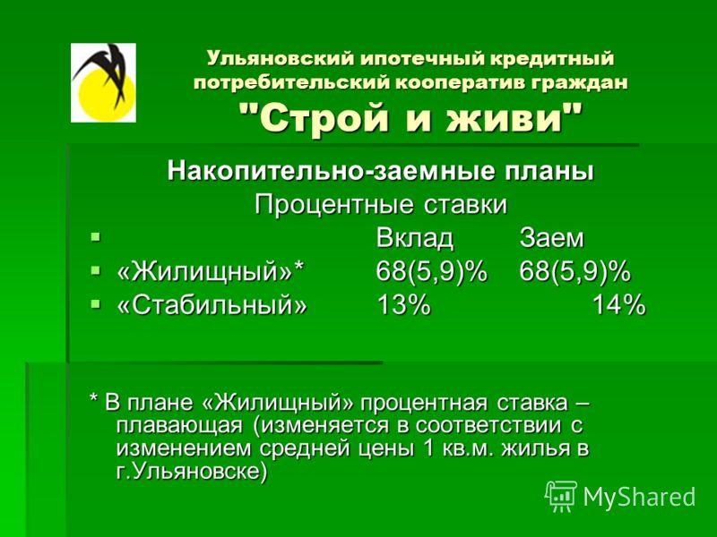 Ульяновский ипотечный кредитный потребительский кооператив граждан