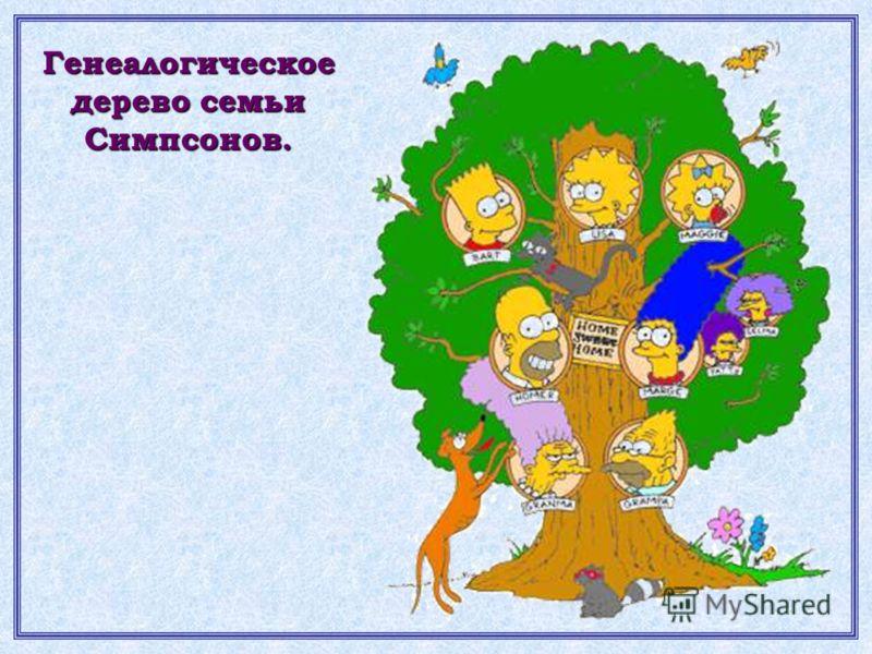 Генеалогическое дерево семьи Симпсонов.