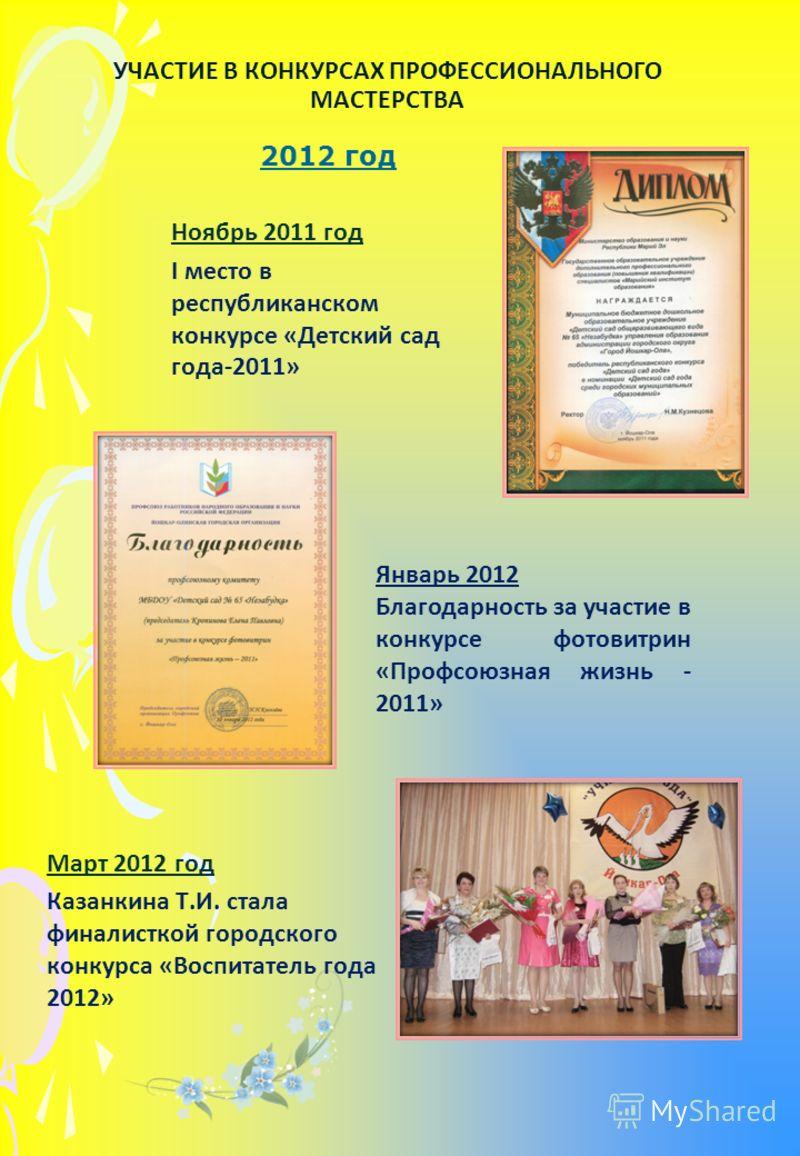 Участие в конкурсах профессионального мастерства для воспитателей