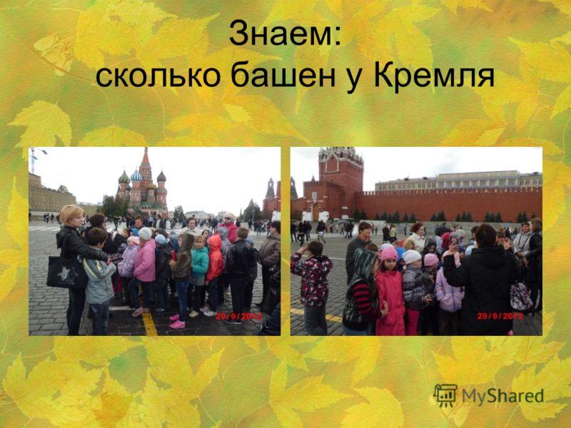Знаем: сколько башен у Кремля