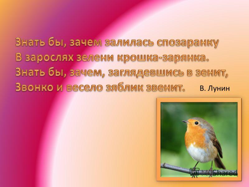 В. Лунин
