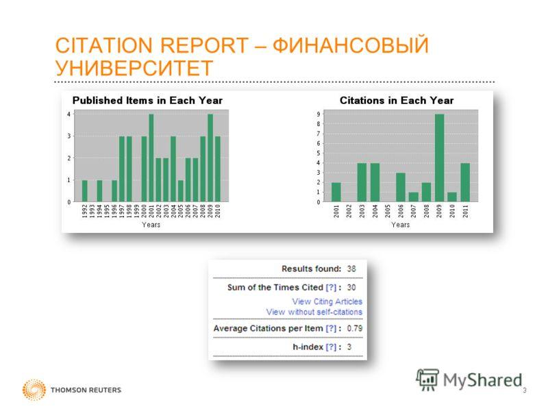 CITATION REPORT – ФИНАНСОВЫЙ УНИВЕРСИТЕТ 3