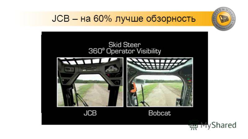 JCB – на 60% лучше обзорность