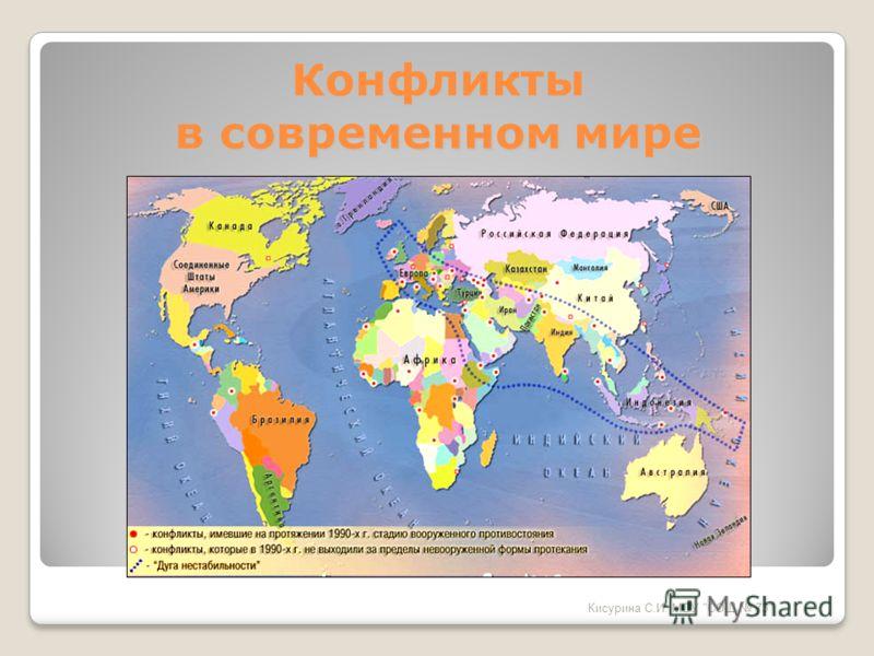 Конфликты в современном мире Кисурина С.И. МОУ СОШ 73