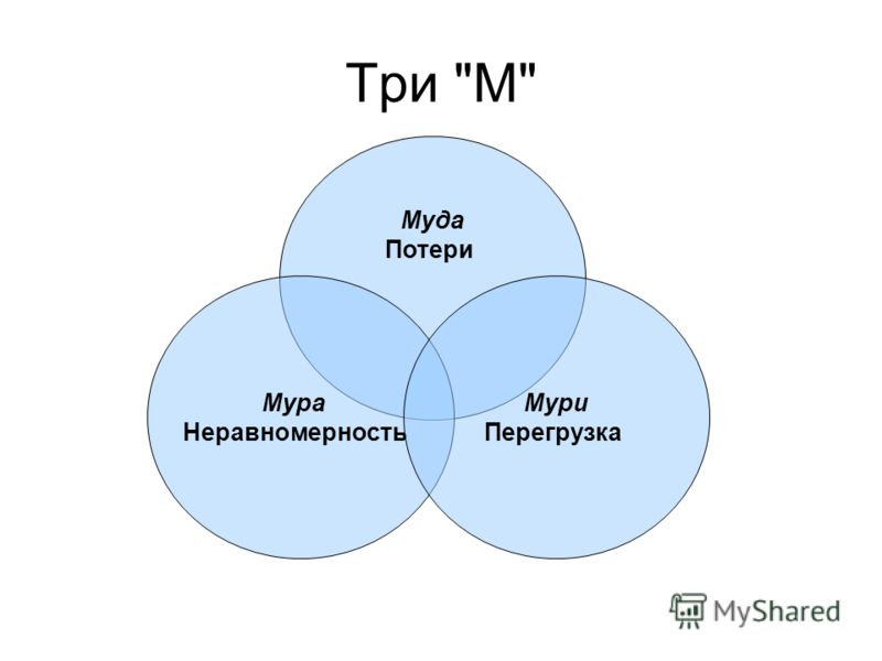 Три М Муда Потери Мура Неравномерность Мури Перегрузка