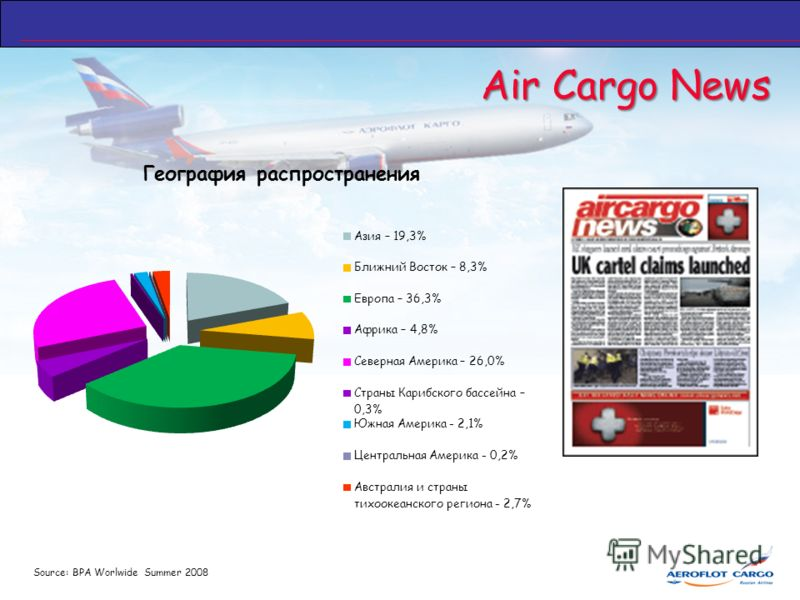 Air Cargo News Source: BPA Worlwide Summer 2008
