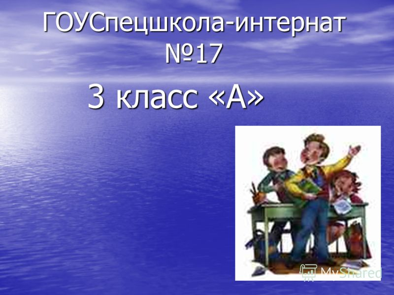 ГОУСпецшкола-интернат 17 3 класс «А»