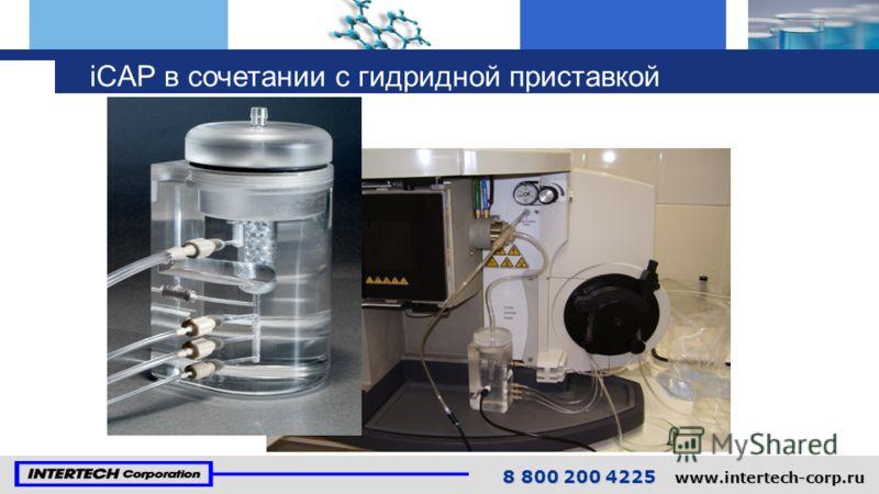 8 800 200 4225 www.intertech-corp.ru iCAP в сочетании с гидридной приставкой