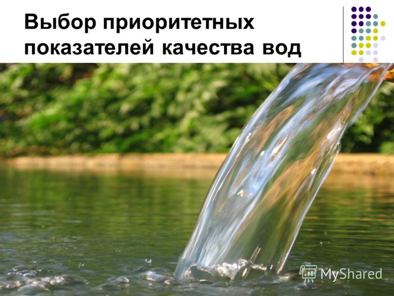 Выбор приоритетных показателей качества вод