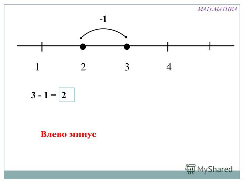 1324 -1 3 - 1 = 2 Влево минус МАТЕМАТИКА
