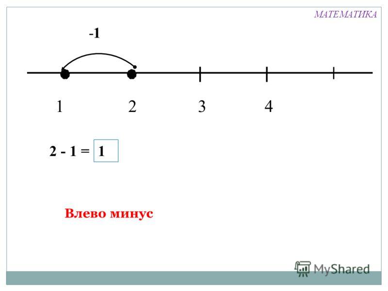 1324 -1 2 - 1 = 1 Влево минус МАТЕМАТИКА