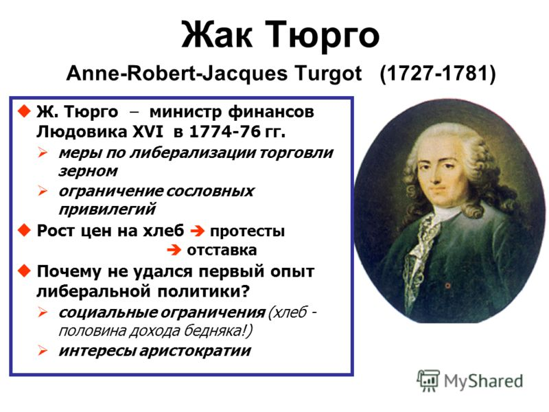 anne robert jacques turgot and his