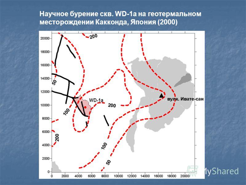 Научное бурение скв. WD-1a на геотермальном месторождении Какконда, Япония (2000)