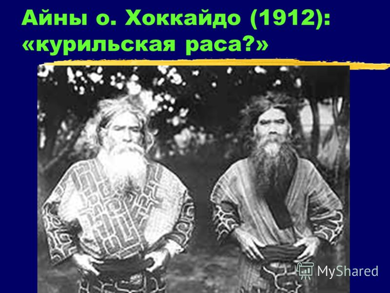 Айны о. Хоккайдо (1912): «курильская раса?»