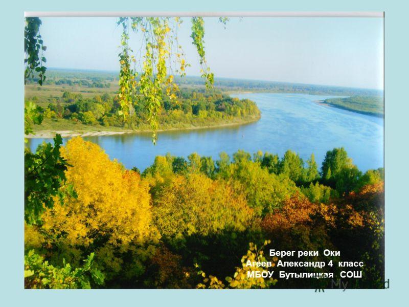 Берег реки Оки Агеев Александр 4 класс МБОУ Бутылицкая СОШ