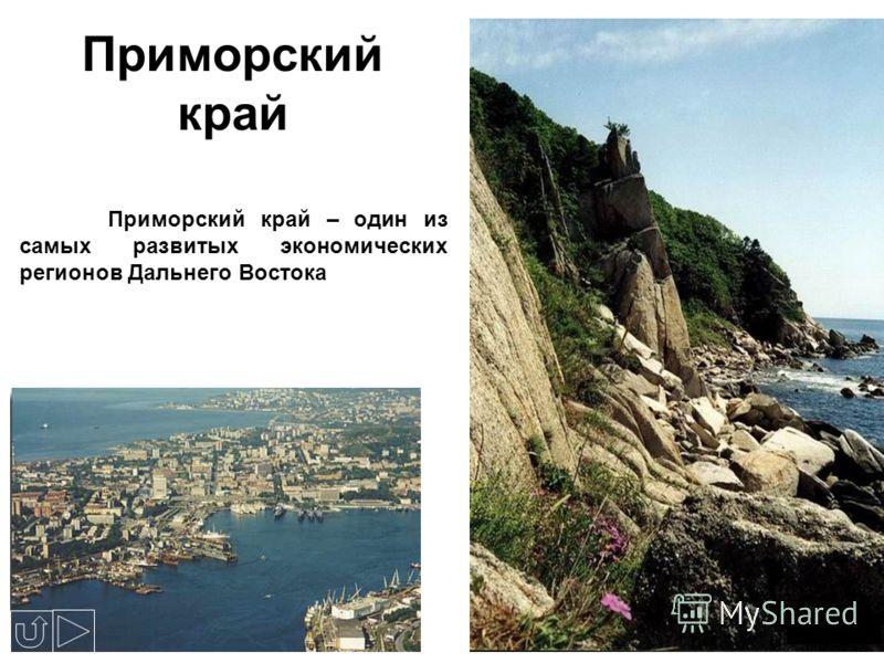 Приморский край Приморский край – один из самых развитых экономических регионов Дальнего Востока