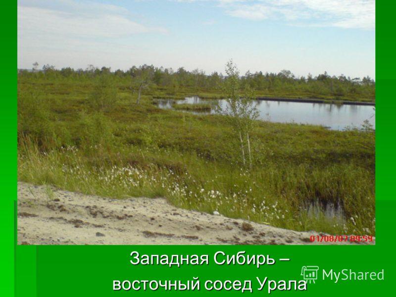Западная Сибирь – восточный сосед Урала