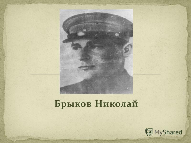 Брыков Николай