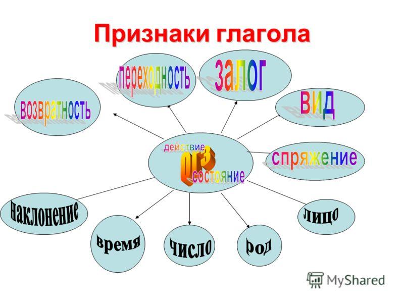 Признаки глагола