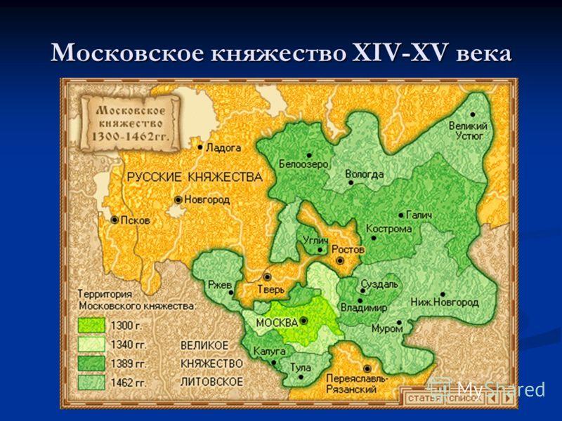 Московское княжество XIV-XV века