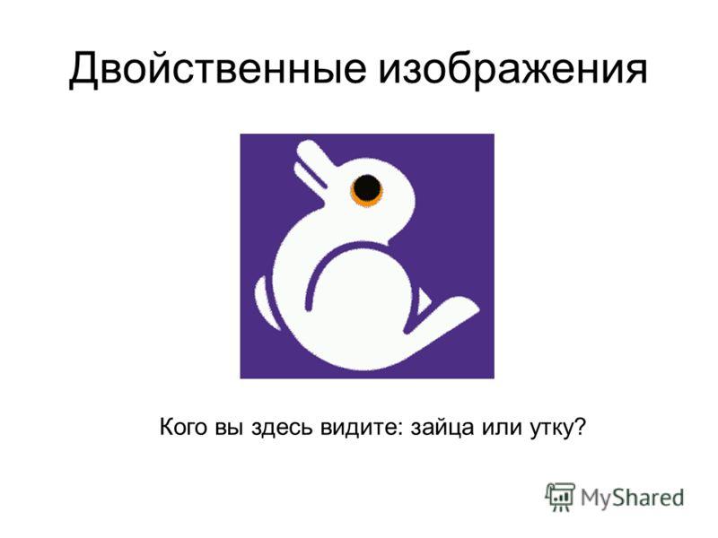 Двойственные изображения Кого вы здесь видите: зайца или утку?