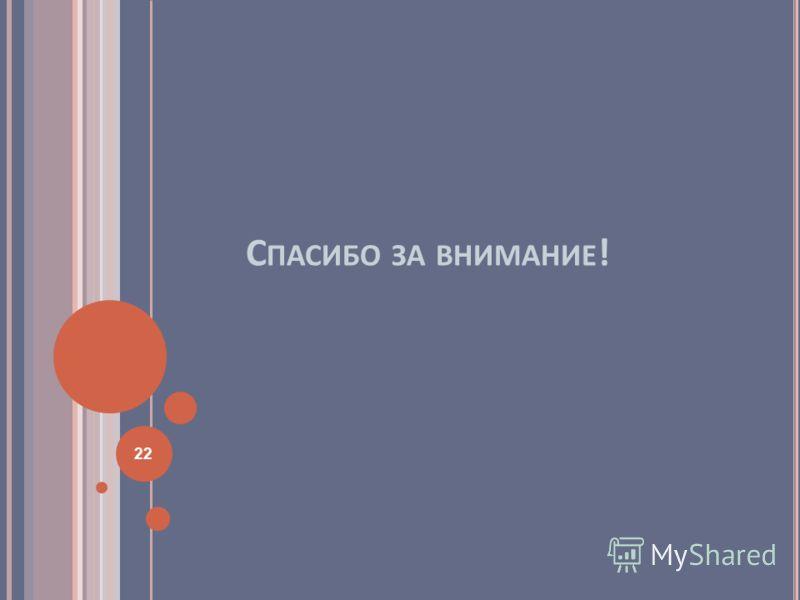 С ПАСИБО ЗА ВНИМАНИЕ ! 22