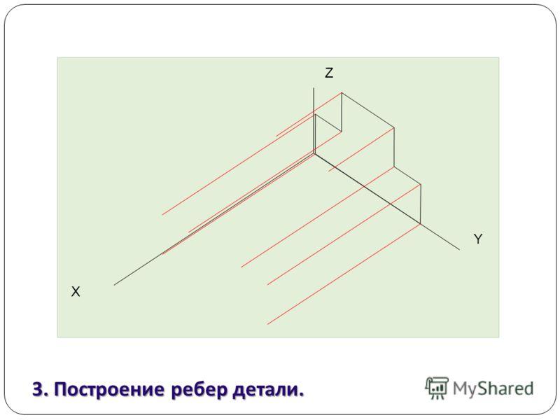3. Построение ребер детали. Z Y Х