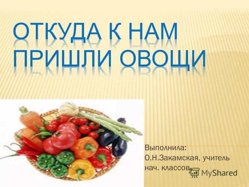 Выполнила: О.Н.Закамская, учитель нач. классов.