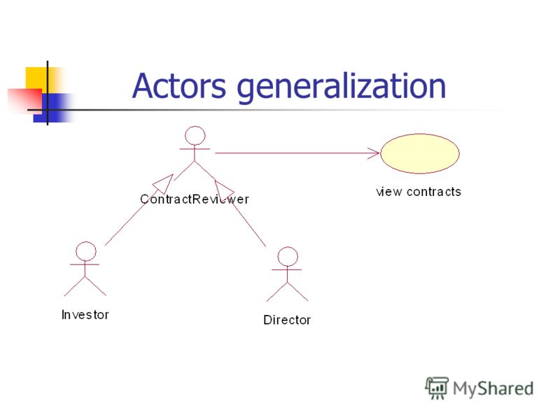 Actors generalization
