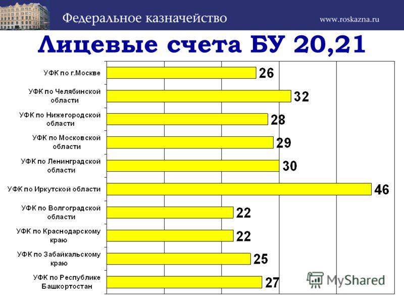 Лицевые счета БУ 20,21