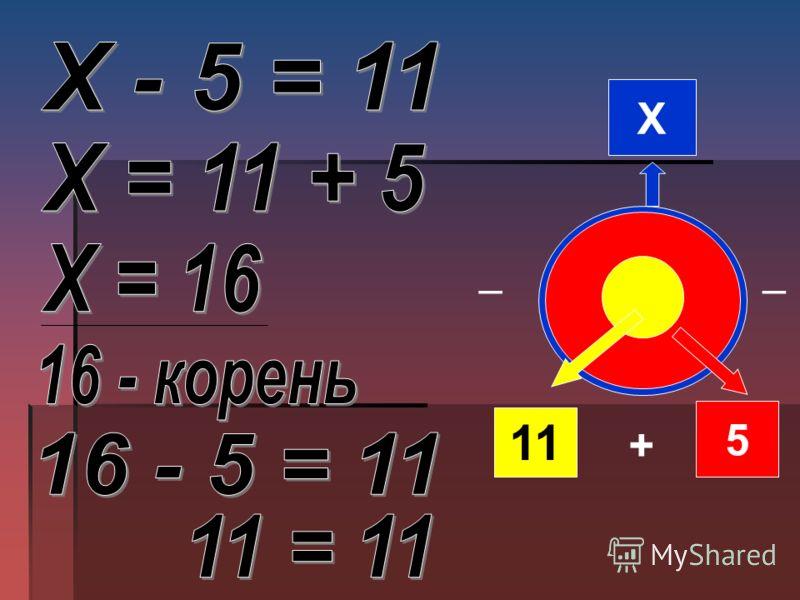 Х 11 5 + ̶ ̶