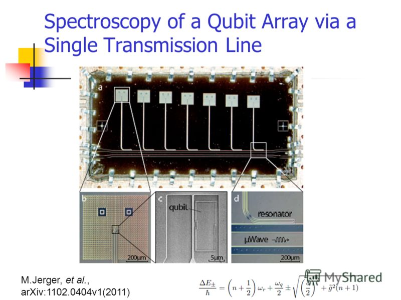 Spectroscopy of a Qubit Array via a Single Transmission Line M.Jerger, et al., arXiv:1102.0404v1(2011)