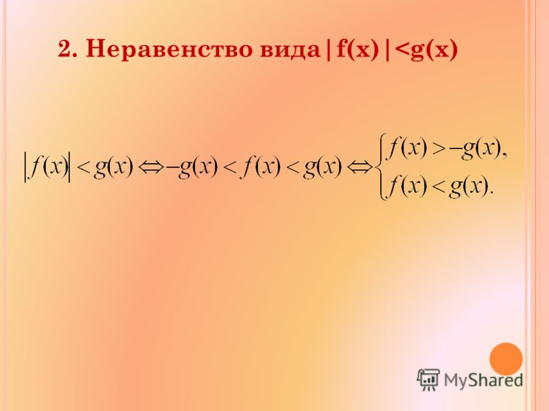 2. Неравенство вида|f(x)|