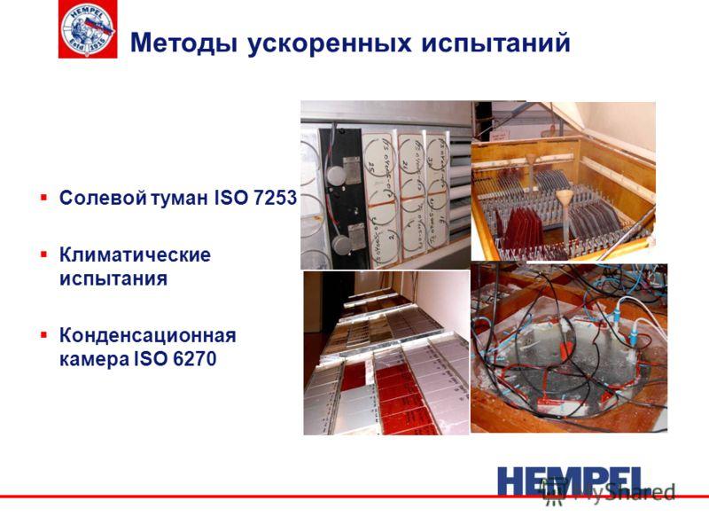 Методы ускоренных испытаний Солевой туман ISO 7253 Климатические испытания Конденсационная камера ISO 6270