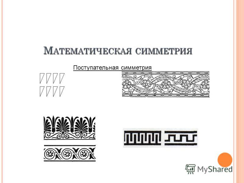М АТЕМАТИЧЕСКАЯ СИММЕТРИЯ Поступательная симметрия