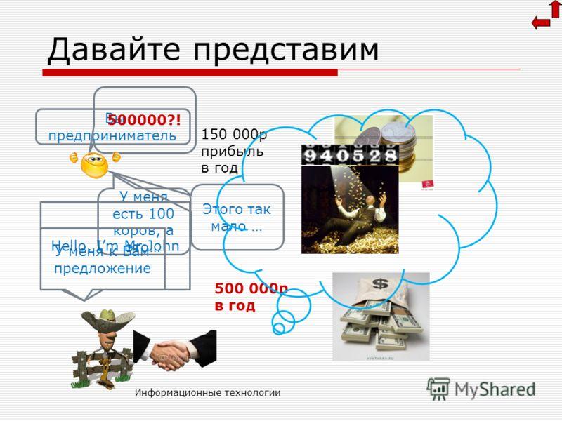Информационные технологии Смешные стандарты МЭК НазваниеАббривиатураЗначение Стандарт МЭК (неживой) Битб0 или 1 Бит Байт Б 8 битБайт Килобайт КБ 1024 БайтаКибиБайт МегабайтМБ 1024 КилоБайтаМегиБайт Гигабайт ГБ1024 МегаБайтаГигиБайт Терабайт ТБ1024 Ги
