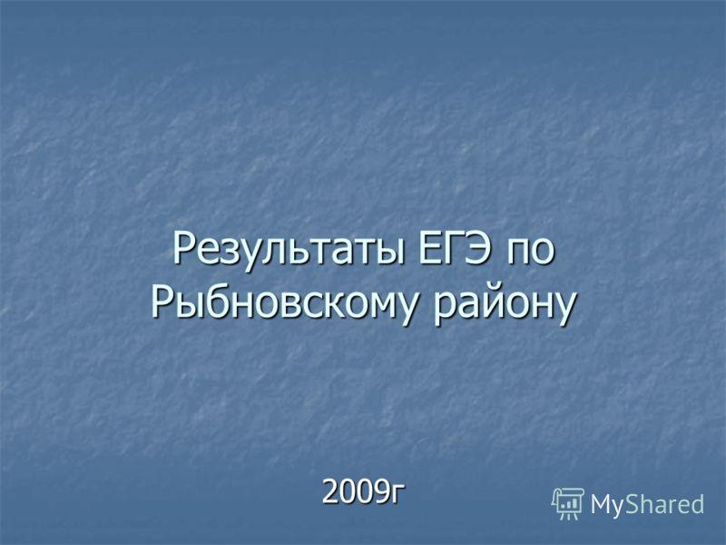 Результаты ЕГЭ по Рыбновскому району 2009г