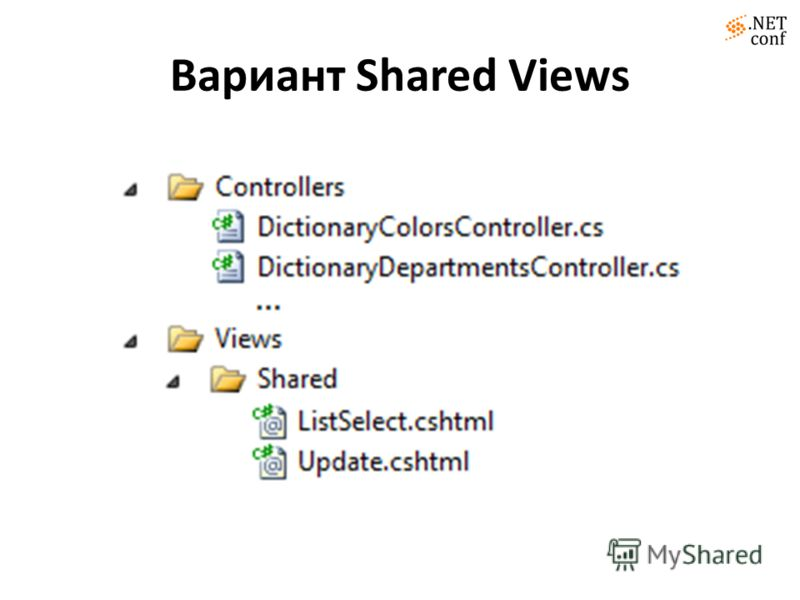 Вариант Shared Views