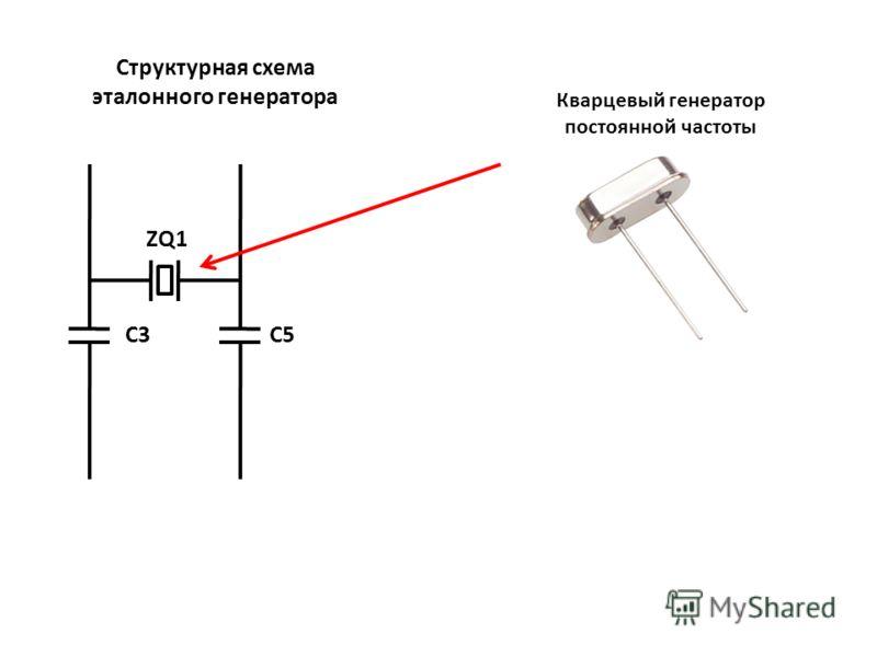 ZQ1 C5C3 Структурная схема эталонного генератора Кварцевый генератор постоянной частоты