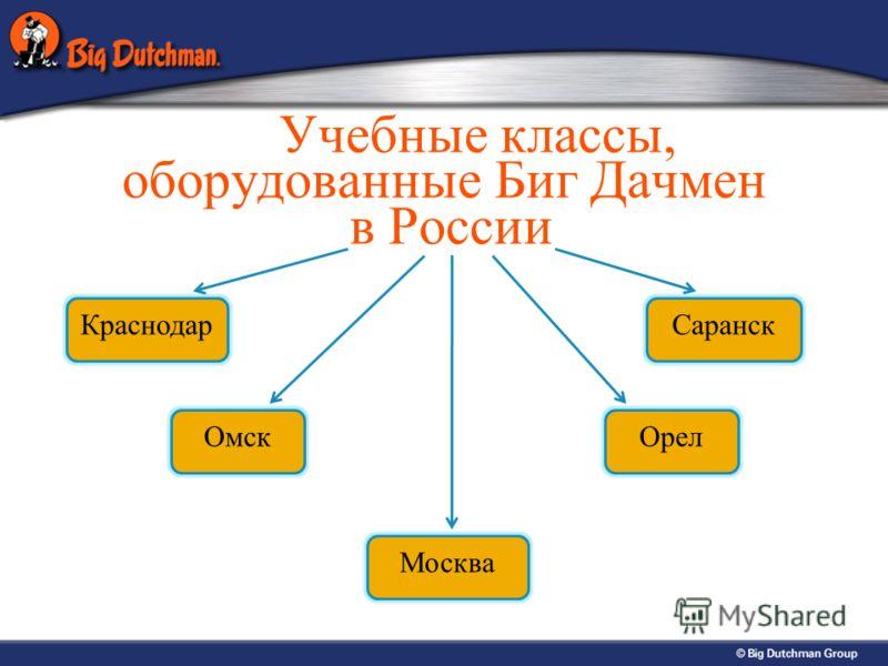 Учебные классы, оборудованные Биг Дачмен в России Краснодар Омск Москва Орел Саранск
