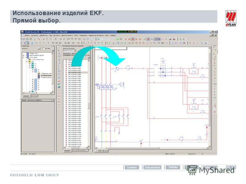References Solutions Portfolio Data and facts 6 Contents Использование изделий EKF. Прямой выбор.