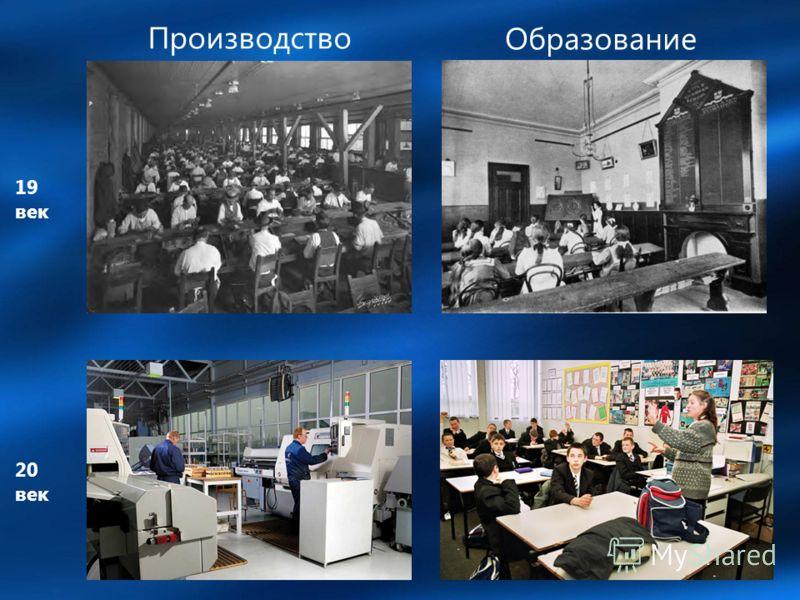 Производство Образование 19 век 20 век