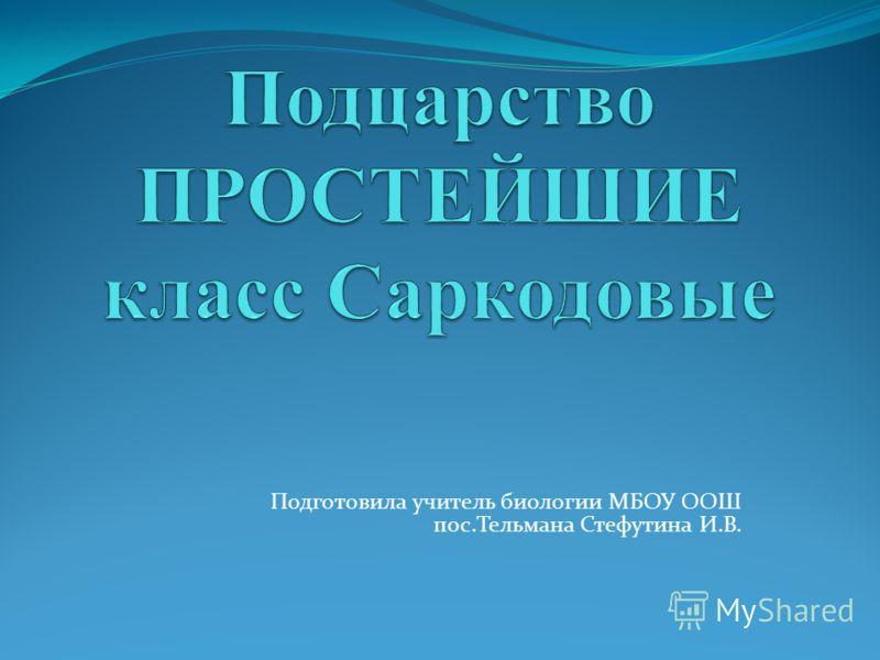 Подготовила учитель биологии МБОУ ООШ пос.Тельмана Стефутина И.В.