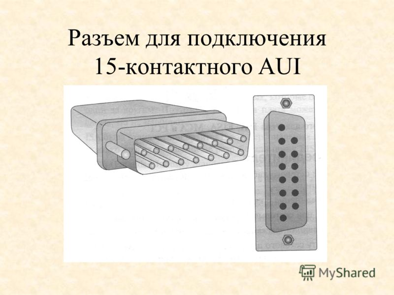 Разъем для подключения 15-контактного AUI