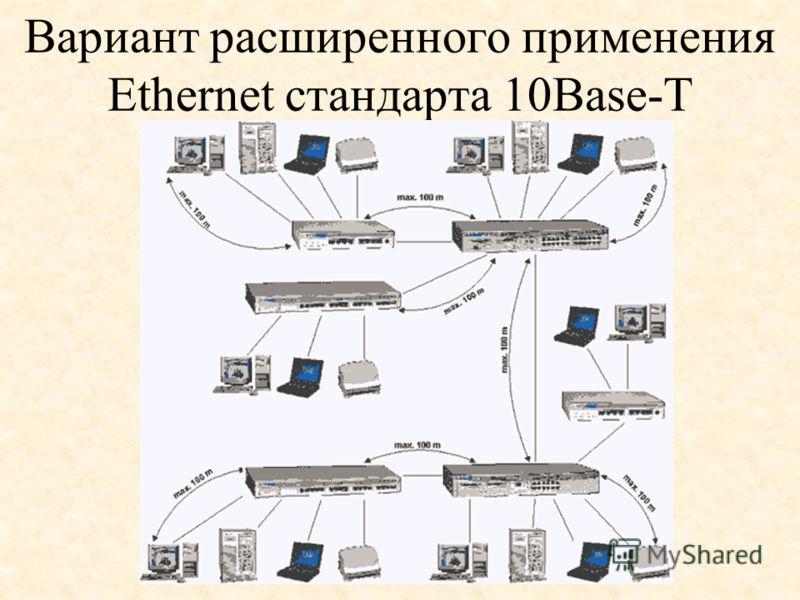 Вариант расширенного применения Ethernet стандарта 10Base-T