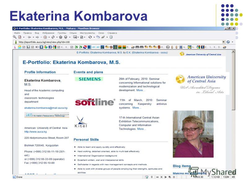 Ekaterina Kombarova