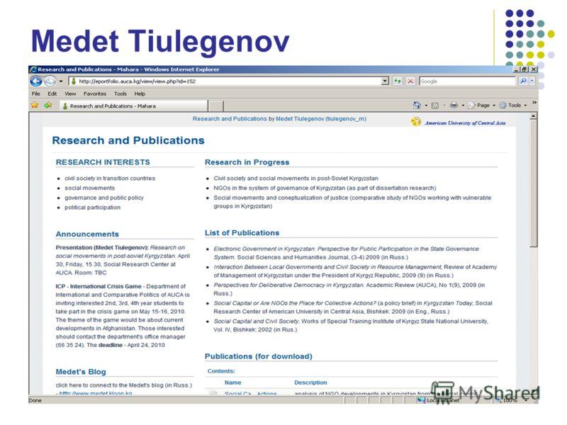 Medet Tiulegenov